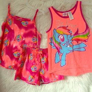 NEW MY LITTLE PONY 3 pc sleep pajama set girls S